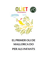 Oliet. Technical specifications - Reference books - Resources - Balearic Islands - Agrifoodstuffs, designations of origin and Balearic gastronomy